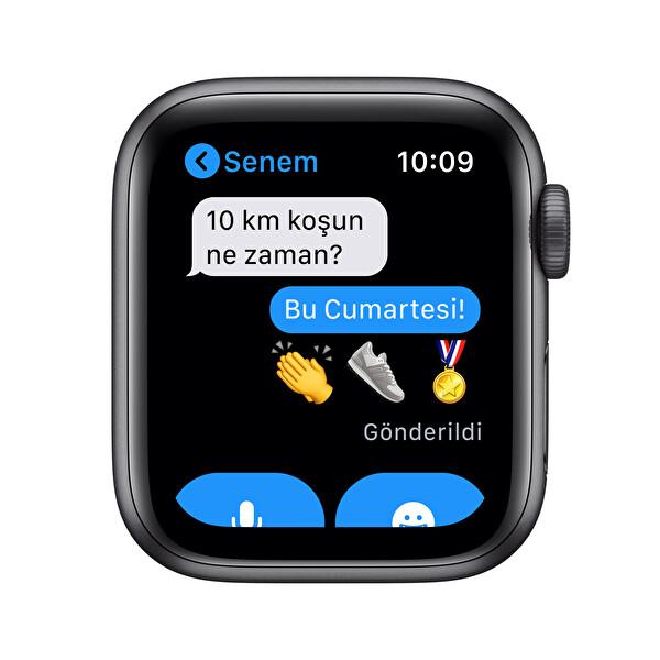 Apple Watch SE 40mm Uzay Grisi Alüminyum Kasa Siyah Spor Kordon MYDP2TU/A