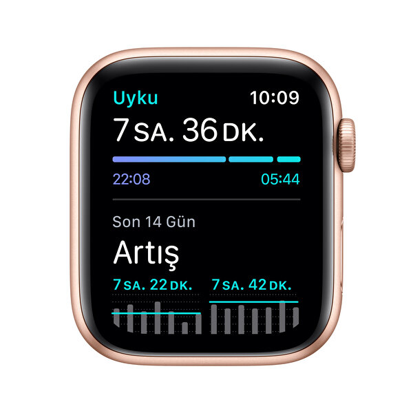 Apple Watch SE 44mm Gold Alüminyum Kasa ve Kum Pembesi Spor Kordon MYDR2TU/A