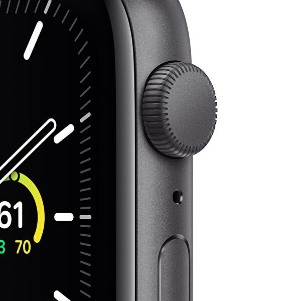 Apple Watch SE 44mm Space Gray Alüminyum Kasa ve Siyah Spor Kordon MYDT2TU/A