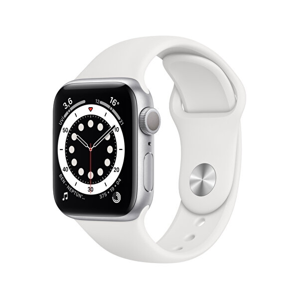 Apple Watch Seri 6 40mm Silver Alüminyum Kasa ve Beyaz Spor Kordon MG283TU/A