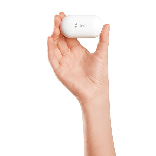 Ttec AirBeat Free Gerçek Kablosuz TWS Bluetooth Kulaklık-Beyaz