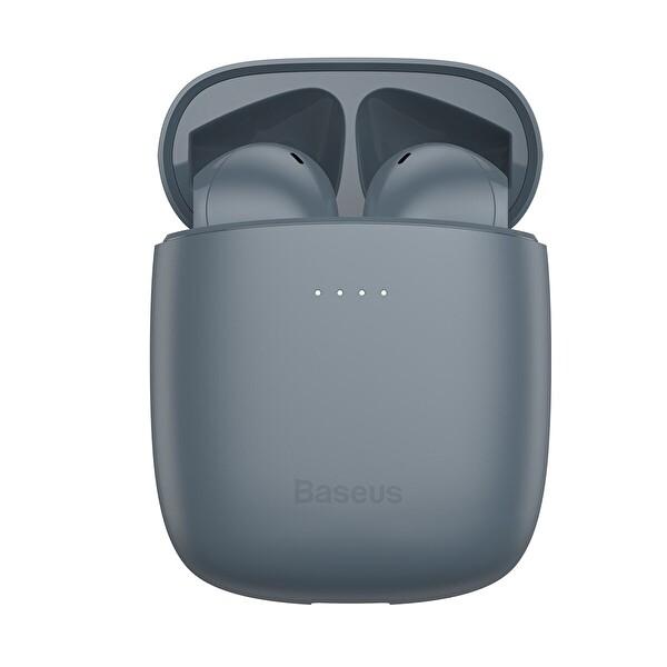 Baseus Encok W04 Pro Bluetooth V5.0 Tws Tamamen Kablosuz Kulaklık Ve Kablosuz Şarj Kutusu Gri