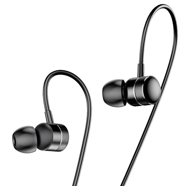 Baseus Encok Wire H04 3.5mm Mikrofonlu Kulak İçi Kulaklık Siyah
