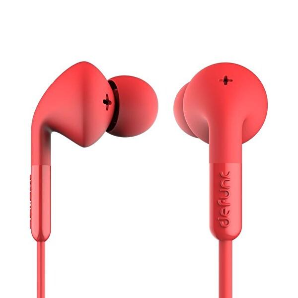 Defunc Plus Music Kablolu Kulak İçi Kulaklık Kırmızı