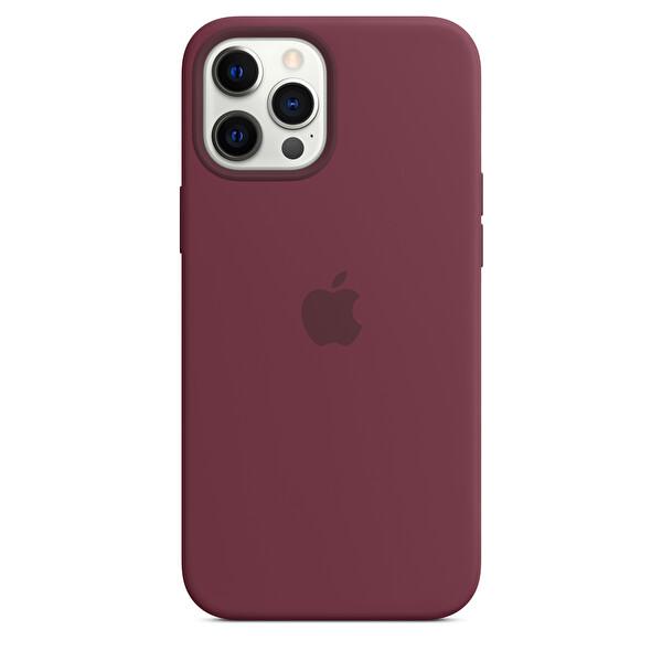 Apple MHLA3ZM/A iPhone 12 Pro Max Uyumlu MagSafe Özellikli Silikon Kırmızı Erik