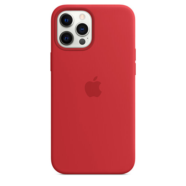 Apple iPhone 12 Pro Max MagSafe Özellikli Kırmızı Silikon Kılıf MHLF3ZM/A