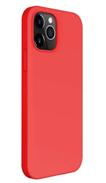 "Preo My Case Nano iPhone 12 Pro Max  6,7"" Silikon Telefon Kılıfı Kırmızı"