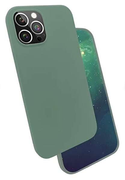 "Preo My Case Nano iPhone 12 Pro Max  6,7"" Silikon Telefon Kılıfı Yeşil"
