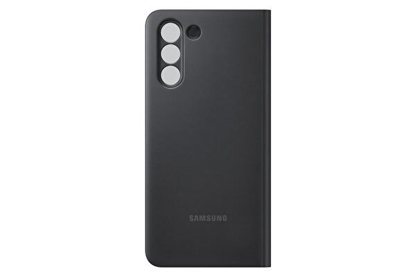 Samsung Galaxy S21 Akıllı Clear View Telefon Kılıfı Siyah