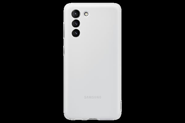 Samsung Galaxy S21 Silikon Telefon Kılıfı Açık Gri