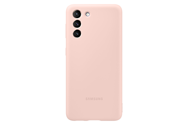 Samsung Galaxy S21 Silikon Telefon Kılıfı Pembe