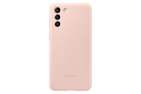 Samsung Galaxy S21+ Silikon Telefon Kılıfı Pembe