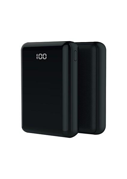 Crea G45 Mini 10000 mAH LCD Display Powerbank Siyah