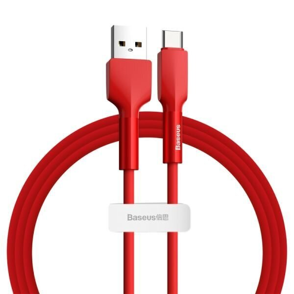 Baseus Silica Gel CATGJ-09 Type-C Kablo 1m Kırmızı