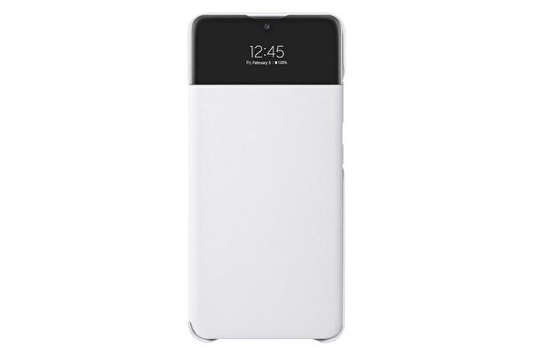 Samsung Galaxy A32 LTE Uyumlu S View Cüzdan Kılıf Beyaz